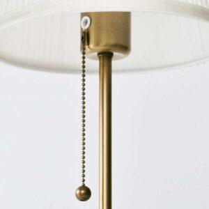ОРСТИД Лампа настольная латунь/белый - Артикул: 503.606.17