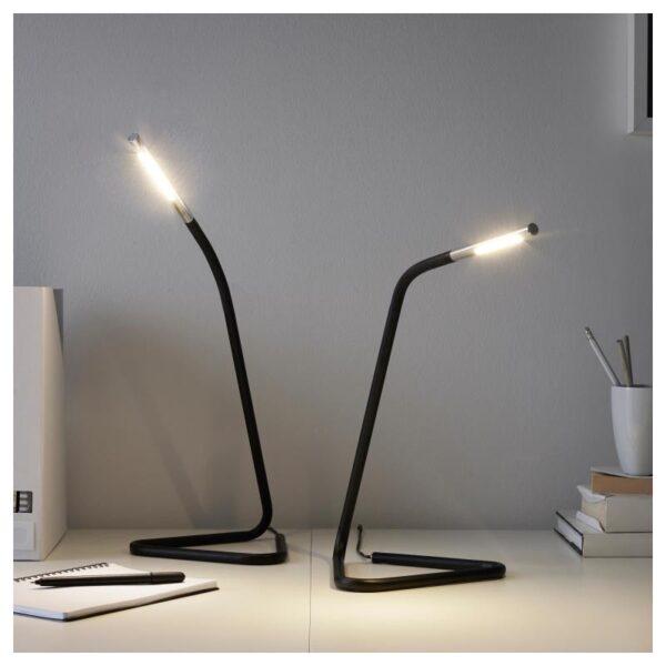 ХОРТЕ Рабочая лампа, светодиодная, черный/серебристый - Артикул: 003.605.92