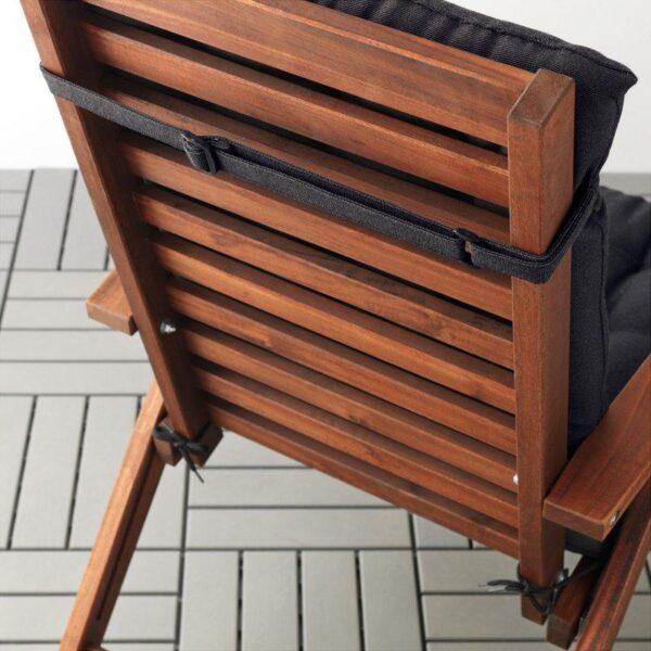 ХОЛЛО Подушка на садовую мебель черный 116x47 см - Артикул: 003.757.82