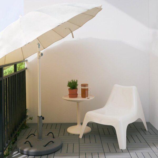 САМСО Зонт от солнца наклонный/бежевый 200 см - Артикул: 203.761.77