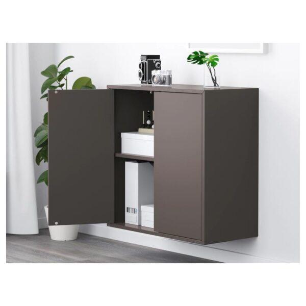 ЭКЕТ Шкаф с 2 дверцами и 1 полкой, темно-серый 70x35x70 см - Артикул: 903.737.31