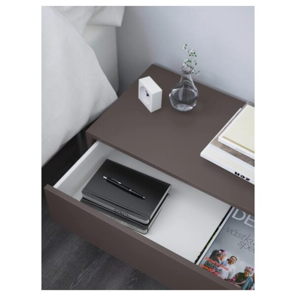 ЭКЕТ Шкаф с 2 ящиками, темно-серый 70x35x35 см - Артикул: 203.737.39