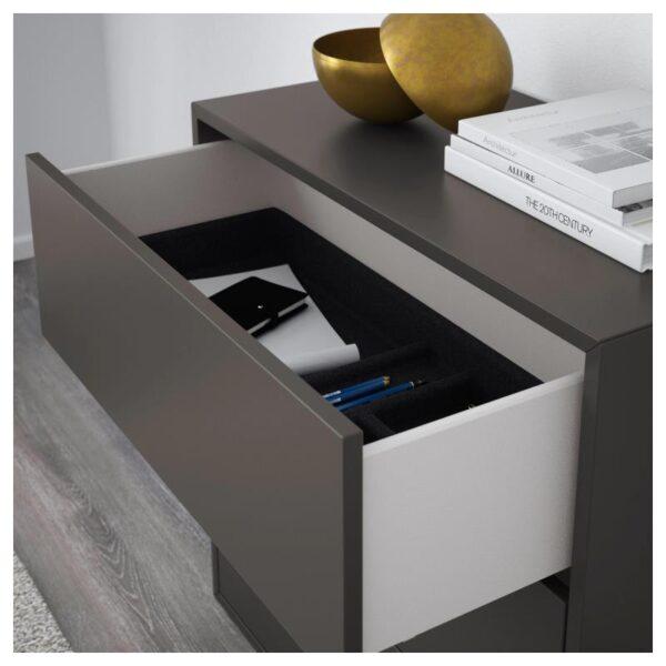 ЭКЕТ Шкаф с 3 ящиками, темно-серый 70x35x70 см - Артикул: 403.737.43