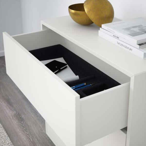 ЭКЕТ Шкаф с 3 ящиками белый 70x35x70 см - Артикул: 803.593.73