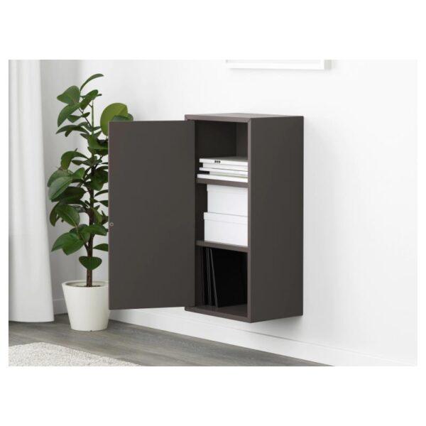 ЭКЕТ Шкаф с дверцей и 2 полками, темно-серый 35x25x70 см - Артикул: 003.737.35