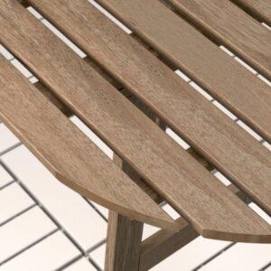 АСКХОЛЬМЕН Стол+2 складных стула д/сада серый/коричневый - Артикул: 492.288.84
