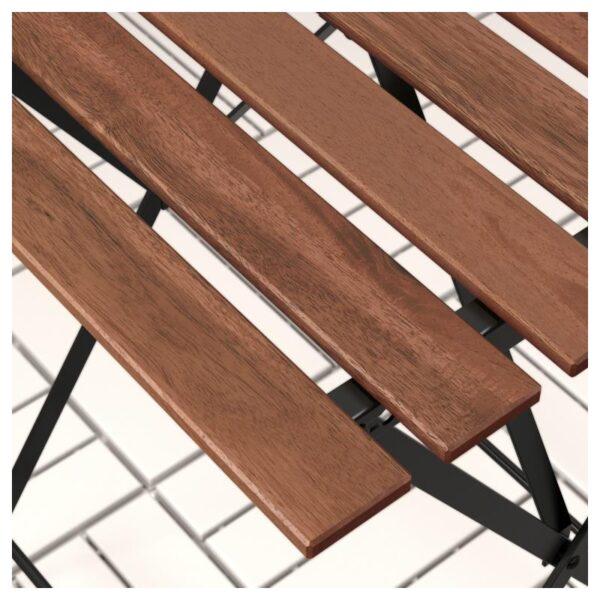 ТЭРНО Стол+2стула,д/сада, черно-коричневая морилка/Куддарна бежевый - Артикул: 592.867.22