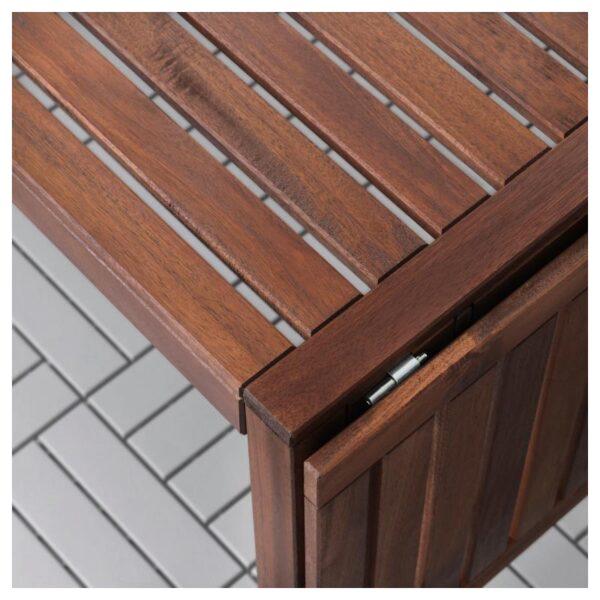 ЭПЛАРО Стол+4 кресла, д/сада, коричневая морилка/Куддарна синий - Артикул: 992.894.22