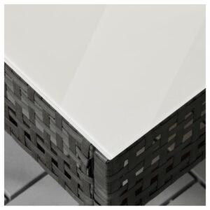 КУНГСХОЛЬМЕН Садовый столик черно-коричневый 62x62 см - Артикул: 003.761.21