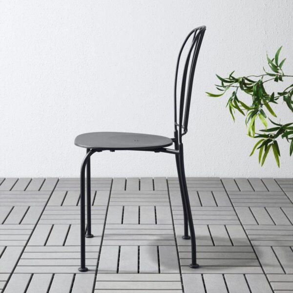 ЛЭККЭ Садовый стул серый - Артикул: 803.761.36
