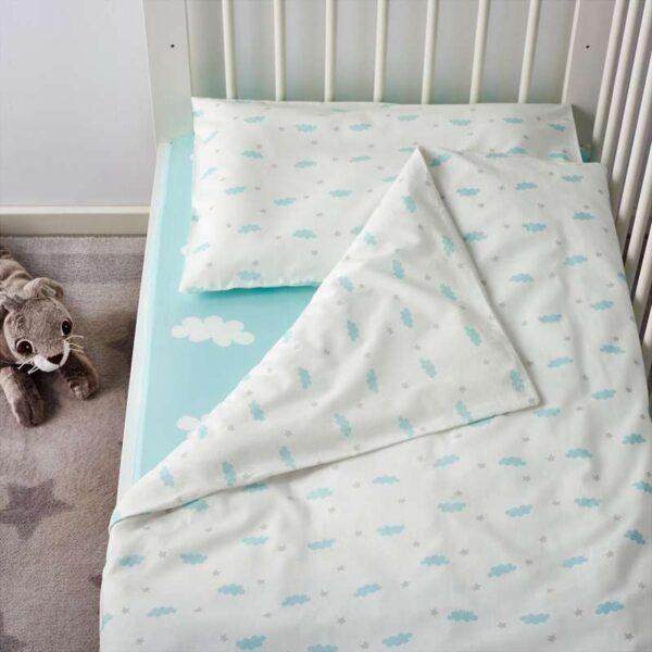 ХИММЕЛЬСК Комплект постельного белья, 3 предм, бирюзовый 110x125/35x55 см. Артикул: 803.707.28