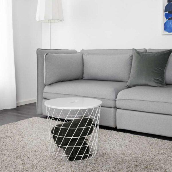 КВИСТБРУ Столик с отделениями д/хранения белый 44 см - Артикул: 803.600.36