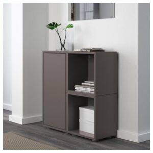 ЭКЕТ Комбинация шкафов с ножками, темно-серый 70x25x72 см - Артикул: 192.864.32