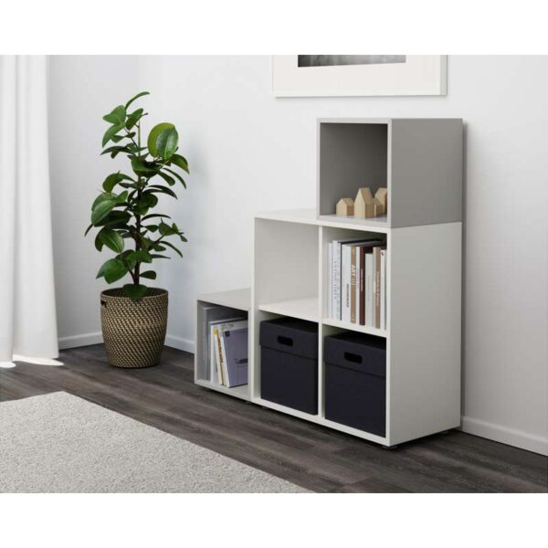 ЭКЕТ Комбинация шкафов с ножками белый/светло-серый 105x35x107 см - Артикул: 291.908.58