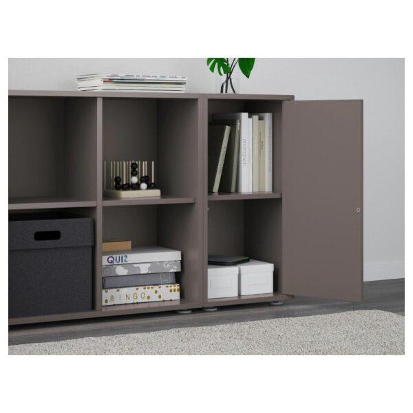 ЭКЕТ Комбинация шкафов с ножками, темно-серый 105x35x72 см - Артикул: 692.864.58
