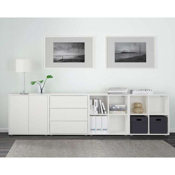 ЭКЕТ Комбинация шкафов с ножками белый 280x35x72 см - Артикул: 491.894.77