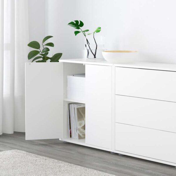 ЭКЕТ Комбинация шкафов с ножками белый 210x35x180 см - Артикул: 891.894.80