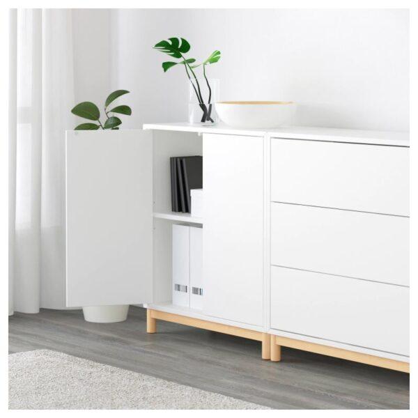 ЭКЕТ Комбинация шкафов с ножками, белый/светло-серый/темно-серый 210x35x210 см - Артикул: 392.866.43