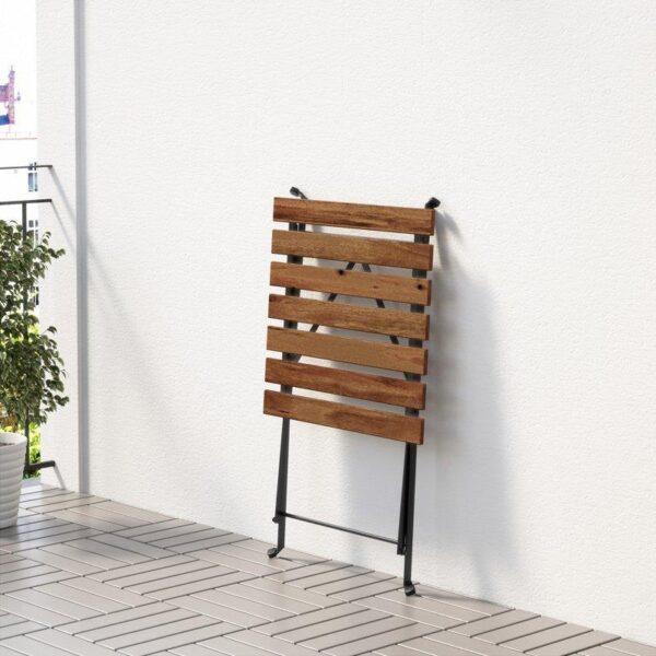 ТЭРНО Садовый стол черный/серо-коричневая морилка 55x54 см - Артикул: 703.762.69