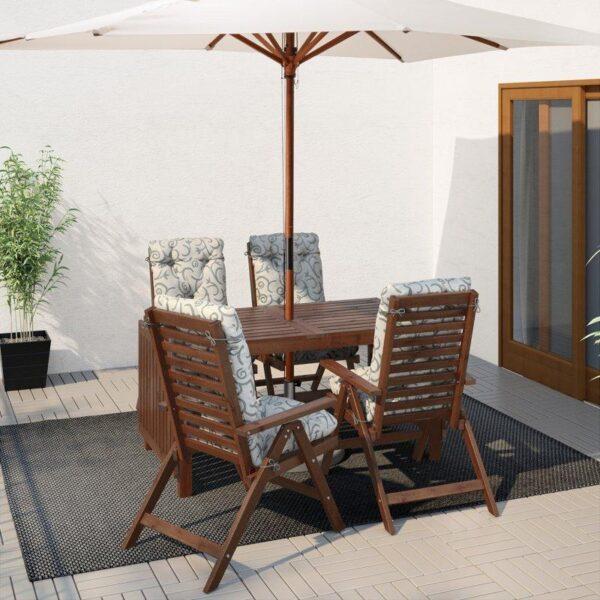 ЭПЛАРО Стол+4 кресла, д/сада коричневая морилка - Артикул: 192.289.46