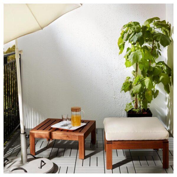 ЭПЛАРО Стол/табурет секция, садовый коричневая морилка 63x63 см - Артикул: 503.763.50