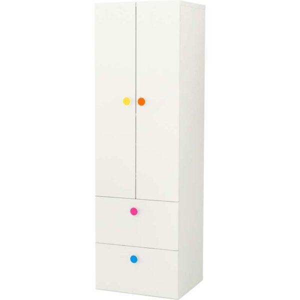 СТУВА / ФОЛЬЯ Гардероб 2-дверный+2 ящика, белый - 60x50x192 см > Артикул: 792.751.24