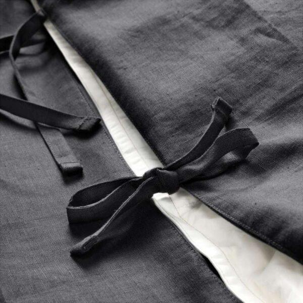 ПУДЕРВИВА Пододеяльник и 1 наволочка, темно-серый 150x200/50x70 см. Артикул: 403.530.47