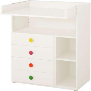 СТУВА / ФОЛЬЯ Пеленальный столик с 4 ящиками белый 90x79x102 см - Артикул: 292.751.31