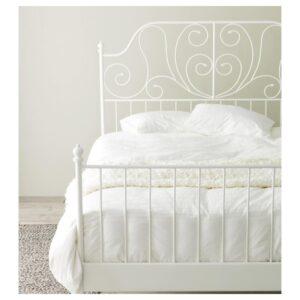 ЛЕЙРВИК Каркас кровати, белый + ламели Лурой, 140x200 см. Артикул: 392.772.81
