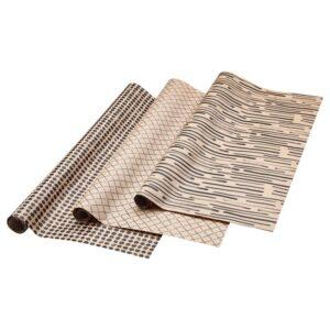 ГИВАНДЕ Рулон оберточной бумаги естественный/черный 3x0.7 м - Артикул: 404.139.75
