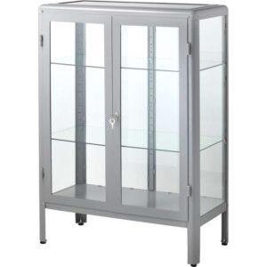 ФАБРИКОР Шкаф-витрина серый 81x113 см - Артикул: 303.631.79