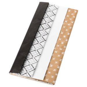ГИВАНДЕ Шелковая бумага черный естественный/белый - Артикул: 604.139.84