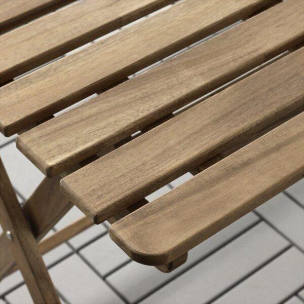 АСКХОЛЬМЕН Стол+4 стула, д/сада серо-коричневая морилка - Артикул: 592.288.88