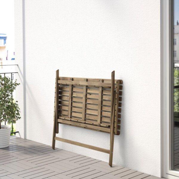 АСКХОЛЬМЕН Садовый стол складной серо-коричневая морилка 112x62 см - Артикул: 303.757.09