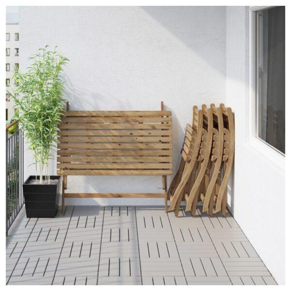 АСКХОЛЬМЕН Стол+4 складных стула, д/сада - Артикул: 892.861.98