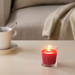 СИНЛИГ Ароматическая свеча в стакане Красные садовые ягоды/красный 7.5 см - Артикул: 603.500.76