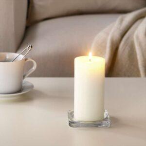 СИНЛИГ Формовая свеча, ароматическая Сладкая ваниль/естественный 14 см - Артикул: 303.500.68
