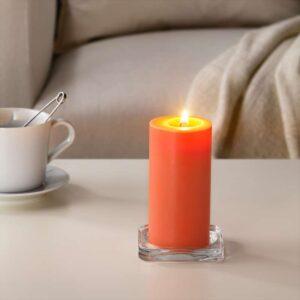 СИНЛИГ Формовая свеча, ароматическая Персик и апельсин/оранжевый 14 см - Артикул: 103.500.69