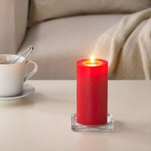 СИНЛИГ Формовая свеча, ароматическая Красные садовые ягоды/красный 14 см - Артикул: 903.500.70