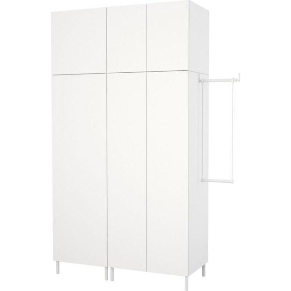 ОПХУС Гардероб белый/Фоннес белый 175-200x57x251 см | Артикул: 592.401.64