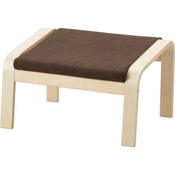 ПОЭНГ Подушка-сиденье на табурет для ног Шифтебу коричневый - Артикул: 004.388.07