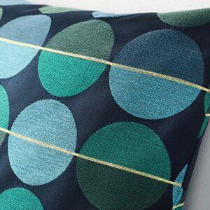 ОТТИЛЬ Чехол на подушку синий/зеленый 50x50 см - Артикул: 503.623.86