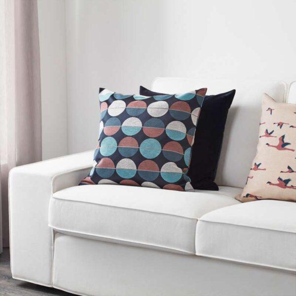 ОТТИЛЬ Чехол на подушку синий/розовый 50x50 см - Артикул: 403.623.82