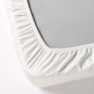 ДВАЛА Простыня натяжная, белый 80x200 см. Артикул: 203.605.34