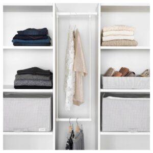 ЛЭТТХЕТ Платяная штанга для каркаса, белый 35-60x40 см - Артикул: 703.874.56