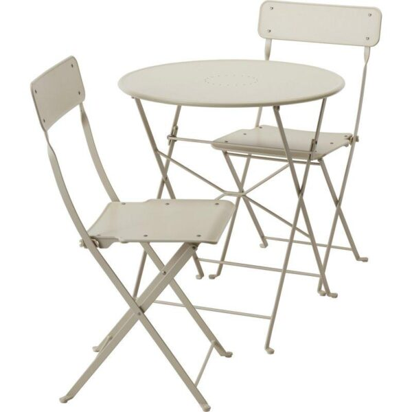 САЛЬТХОЛЬМЕН Стол+2 складных стула д/сада бежевый - Артикул: 492.288.98
