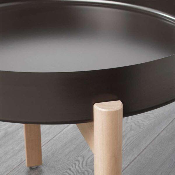 ЮППЕРЛИГ Журнальный стол темно-серый/береза 50 см - Артикул: 803.474.41