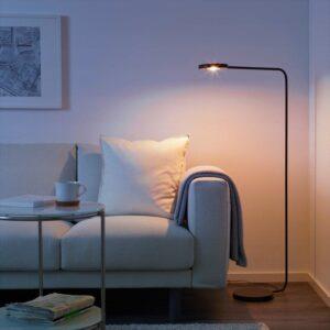 ЮППЕРЛИГ Светильник напольный светодиодный темно-серый - Артикул: 403.474.57