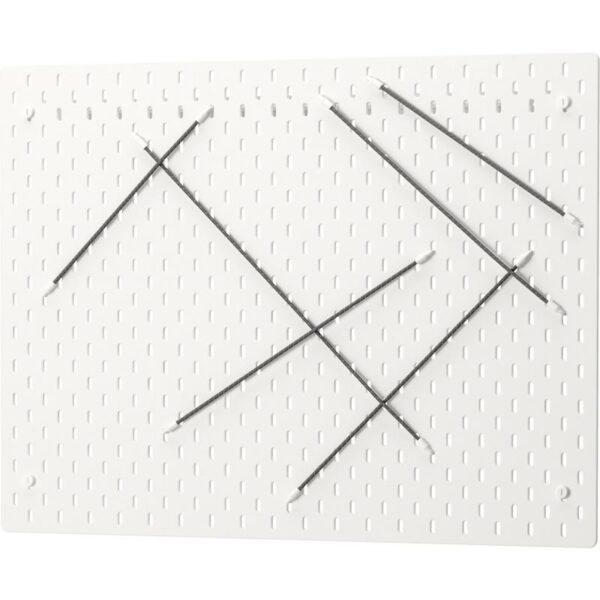 СКОДИС Настенная панель, комбинация белый 76x56 см - Артикул: 392.857.66