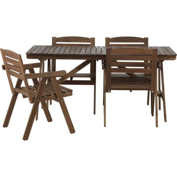 ФАЛЬХОЛЬМЕН Стол+4 кресла д/сада серо-коричневый - Артикул: 192.288.90